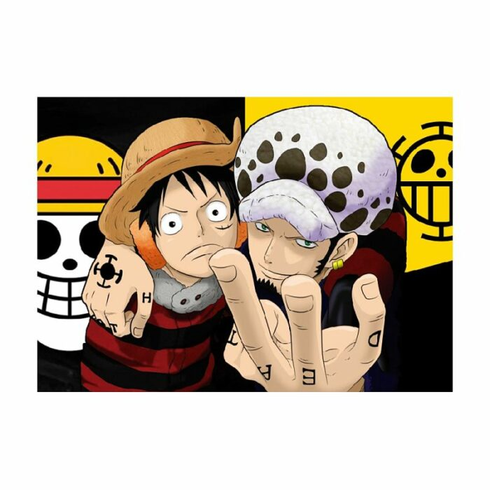 Poster Luffy y Law, poster luffy, poster one piece, poster trafalgar