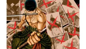 Poster Zoro One Piece, poster one piece, poster anime