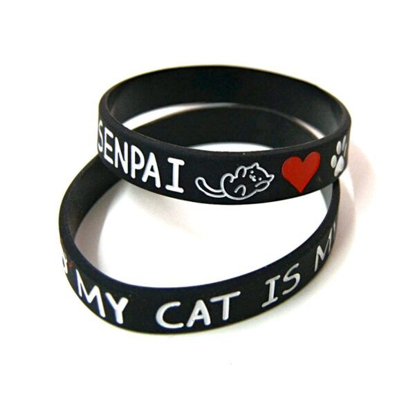 pulsera my cat is my senpai, pulsera cat, pulsera gato, pulsera kawaii, kawaii, cat, gato, pulseras frikis