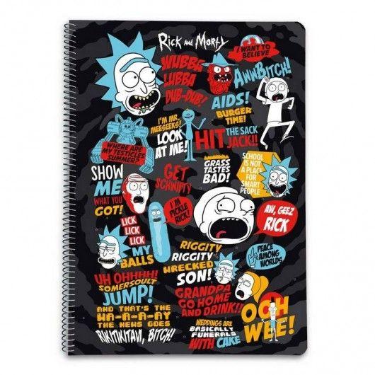 Cuaderno Rick y Morty