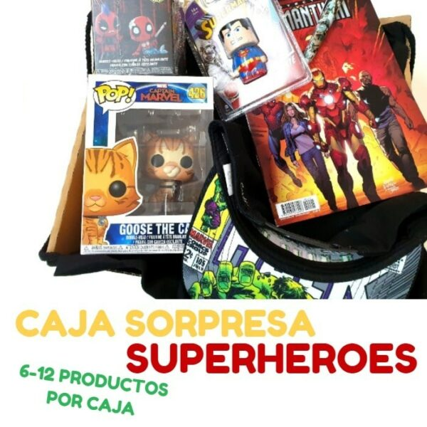 caja sorpresa superheroes
