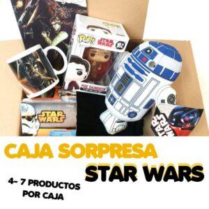 CAJA SORPRESA STAR WARS llena de productos muy galacticos